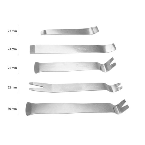 Car Trim and Panel Removal Tools Kit (Stainless Steel, 5 pcs.) Preview 2