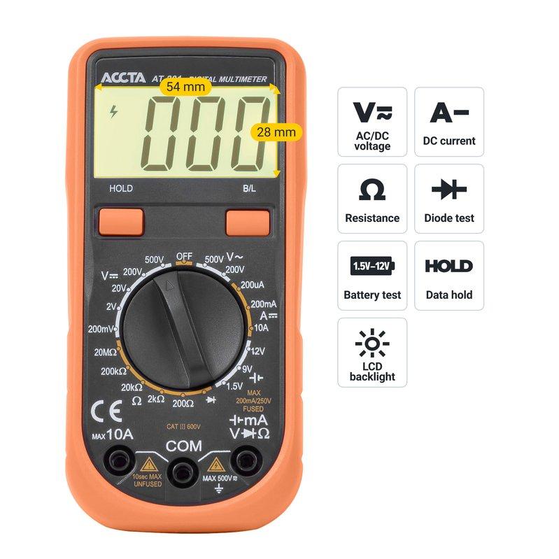 Цифровий мультиметр Accta AT-201 Зображення 5