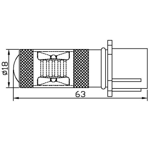 Протитуманна LED лампа UP-7G-PSX26WB-30W (біла, 12-24 В) Прев'ю 1