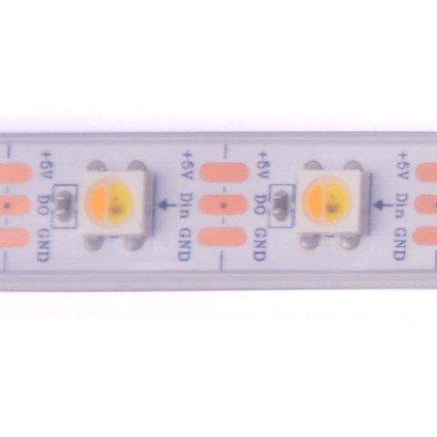 Світлодіодна стрічка SMD5050 SK6812 (1800-7000 K, біла, з управлінням, IP67, 5 В, 60 діодів/м, 5 м) Прев'ю 1
