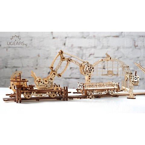 Механический 3D-пазл UGEARS Манипулятор на рельсах